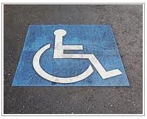 Internationale teken voor gehandicapten parkeerplaatsen